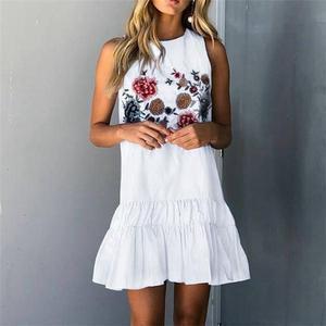 Fashion Sleeveless Printing Mini Dresses