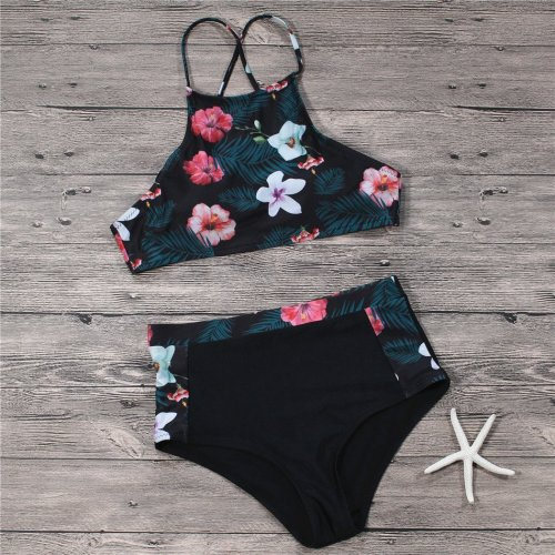 High Waist Sexy Printed Swimsuit Set