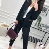 Lapel Long Sleeve Button Fashion Blazers