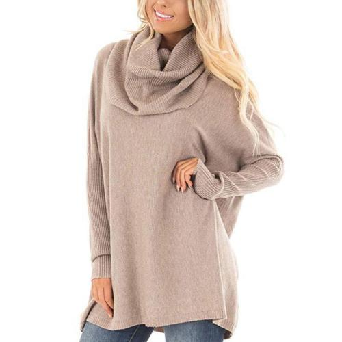 Turtle Neck Long Batwing Sleeve Knitting Sweaters