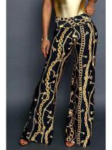 Abstract Print Casual Pants