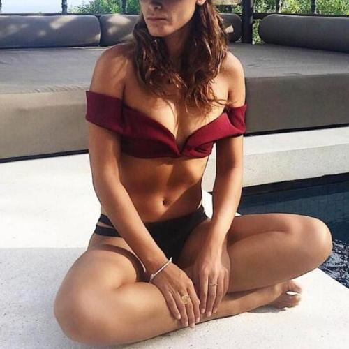 Sexy Solid-Color Swimsuit