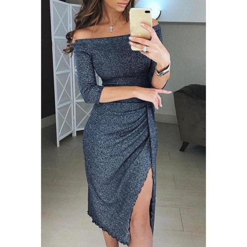 Off Shoulder Collar Bodycon Dress