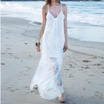 Sexy Lace  Sleeveless Casual Dress