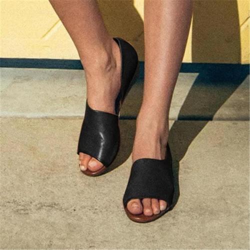 Fashion Simple Versatile Flat Sandals