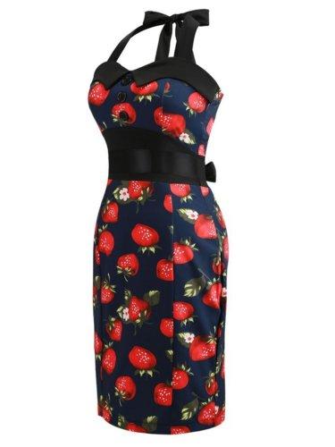 Halter Single Breasted Printed Dresses