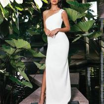 Sexy Backless Shown Thin Off Shoulder Evening Dress