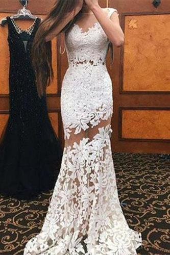 Sexy Lace Hollow Out Sleeveless Maxi Dresses