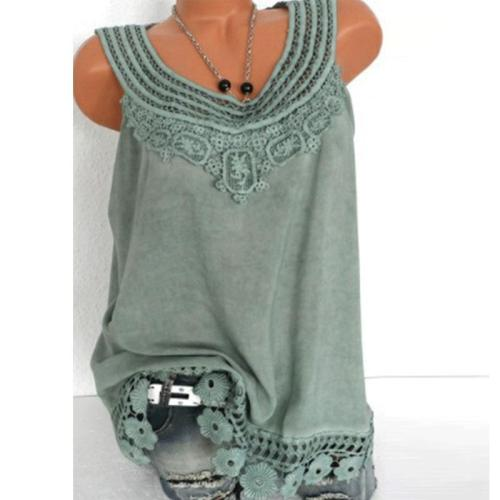 Round Neck  Embroidered  Patchwork Plain Short Sleeve T-Shirts