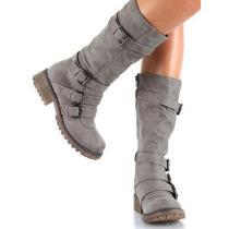 Retro Winter High Flat Martin Boots