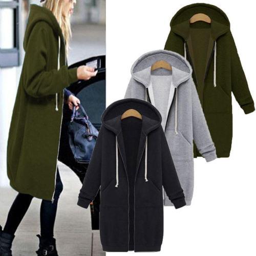 Plus Velvet Sweater Large Size Loose Hooded Jacket