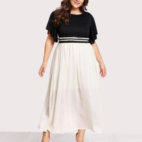 Patchwork Casual Women Long Maxi Dress