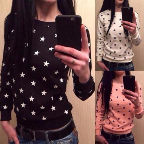 Round Neck  Star T-Shirts