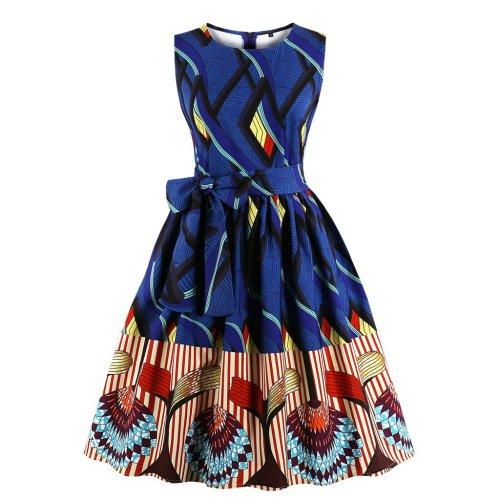 Vintage Sleeveless O Neck Evening Dress