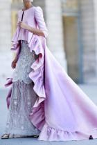Sexy Solid Color Ruffled Maxi Dress