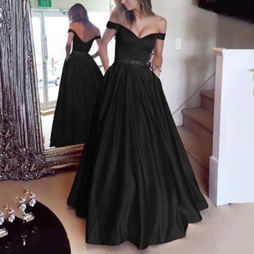 One Shoulder Waist  Evening Dress