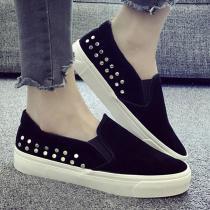 Rivet Slip On Platform Casual Shoes