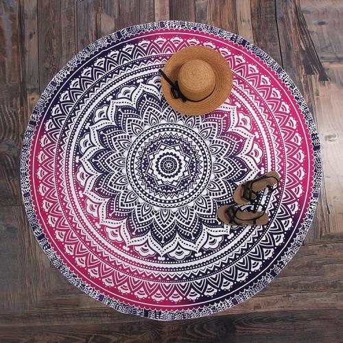 Fashion Totem Printed Round Beach Towel Shawl