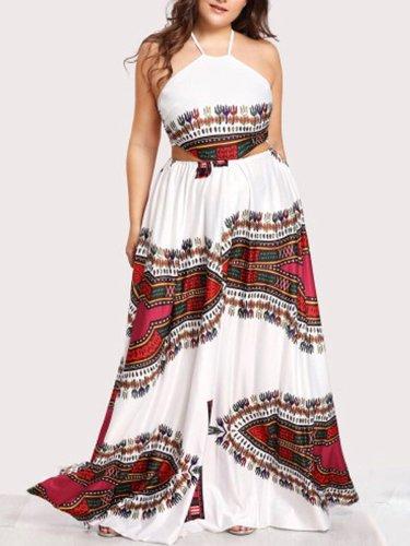 Spaghetti Strap  Bohemian Plus Size Midi & Maxi Dresses