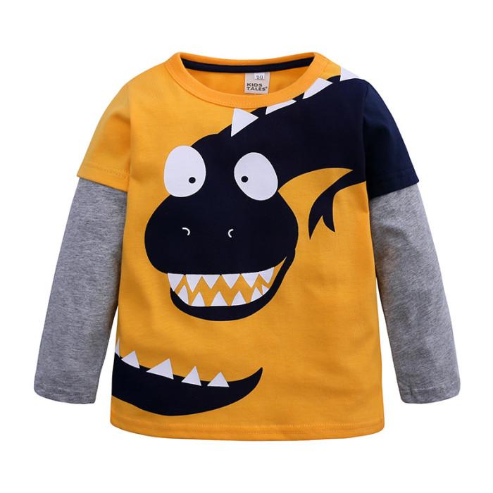 Kids Boys Long Sleeve Tops Dinosaur T Shirt