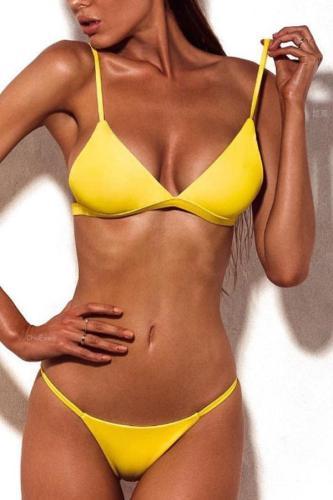 Spaghetti Strap  Plain Bikini