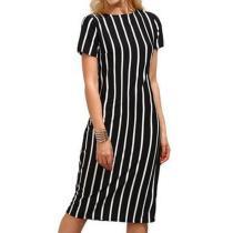 Vertical Striped Bodycon Dress
