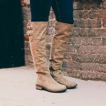 Knee High Double Buckle Martin Boot