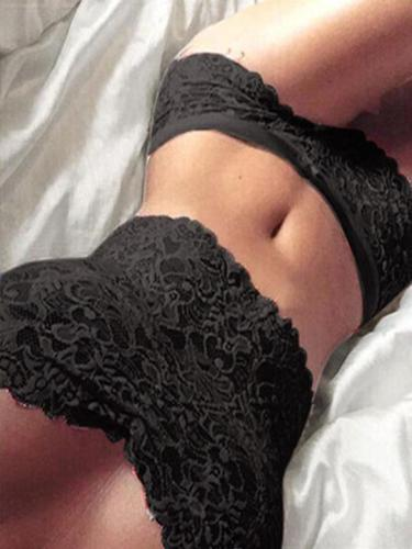 V-Neck Decorative Lace Hollow Out Sexy Nightgown