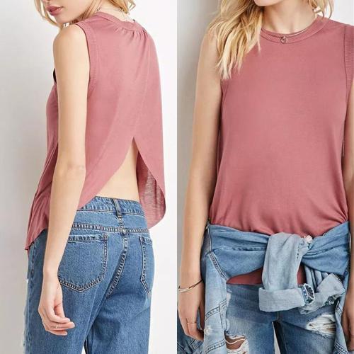 Round Neck Sleeveless T-Shirts