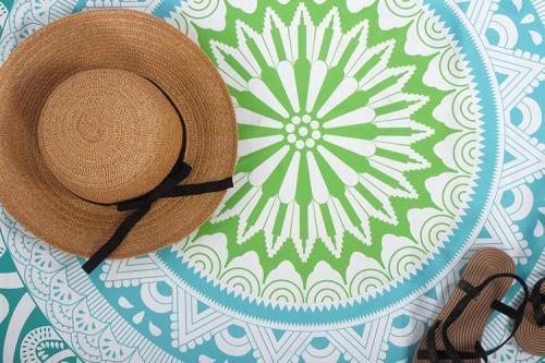 Sun Protection Shawl Yoga Mat Round Beach Towel