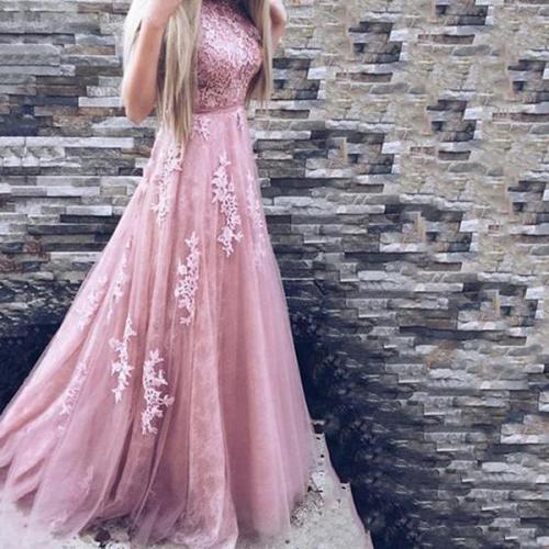Fashion Lace Sleeveless Evening Dress Maxi   Dress