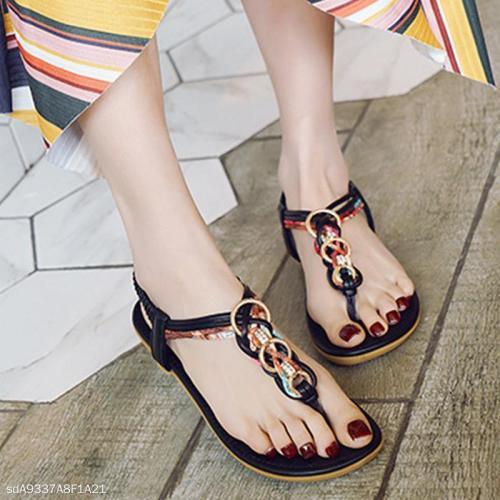 Flat With Bohemian Buckle Beach Women's Shoes Flat Sandals