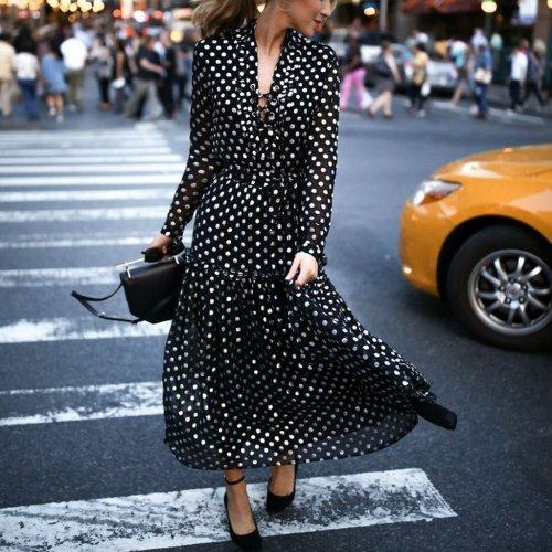 V-Neck Bohemia Style Fashion Vacation Dresses