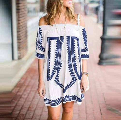 Embroidered Beach Dress Bikini Blouse