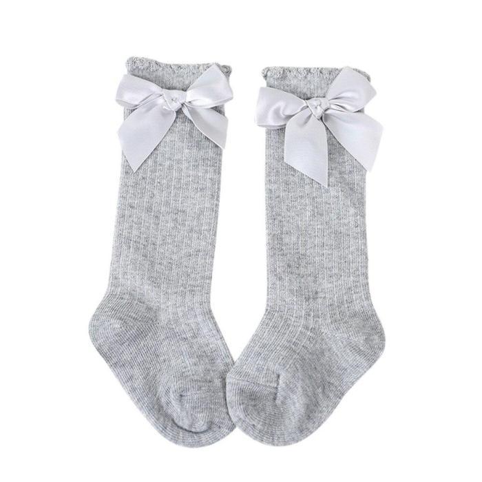 New Arrival Kids Socks Toddlers Girls Big Bow Knee High Long Soft Cotton Lace baby Socks Kids kniekousen meisje