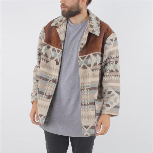 Men's Lapel Print Jacket