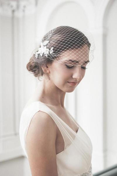 Romantic Women Bride Veil Lace Appliqued Wedding Accessories Bride Hair Headwear 2020