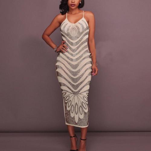 Sexy Striped Sling Dress