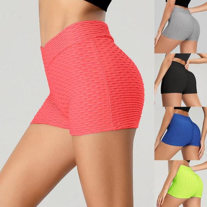 EBUYTIDE Women's Sports Shorts High Waist Yoga Wear Exercise Sexy Hips Push Up Sportswear Quick-drying Running Casual Shorts