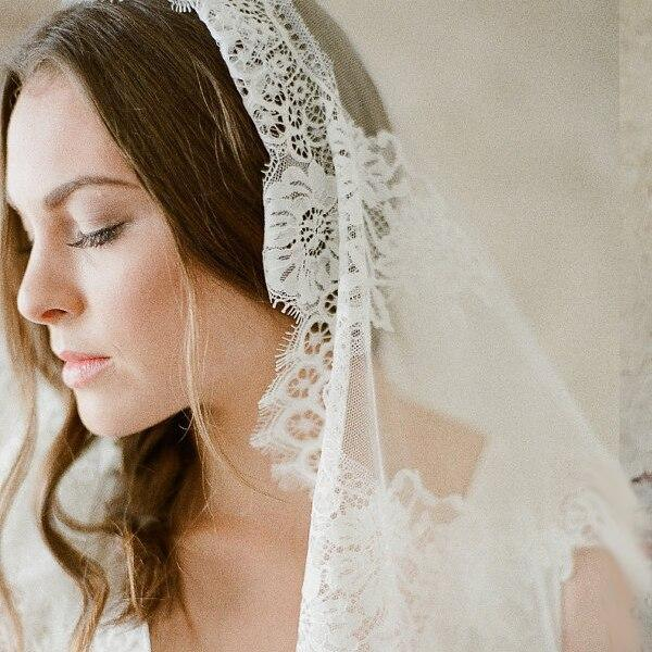 New Arrival 2m 3m 4m Cathedral Wedding Veils Long Bridal Veil 2019 One Layer White Ivory Lace Bride Veils Wedding Accessories