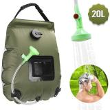 Hiking Camping Shower 20L PVC Non-Toxic hydration Portable Solar Bath Heating Storage Bag Hose Switchable Outdoor Water Bags