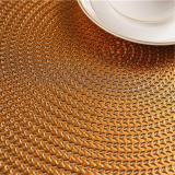 Round PVC Placemat Kitchen Dining Table Mats Steak Pad Anti-scalding Insulation Pads INS Nordic Hotel Restaurant Home Decor