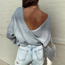 Criss Cross Knit Sweater