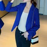 Short Slim-Fit Single Button Jacket Women Blazer Office Coat Korean Suit Female Office Blazers Ladies Tops Blazers Mulheres