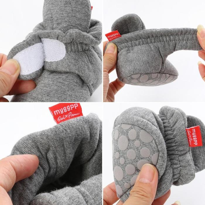 Newborn Baby Socks Shoes Boy Girl Star Toddler First Walkers Booties Cotton Comfort Soft Anti-slip Warm Infant Crib Shoes