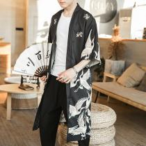 Hawaiian Shirt Men Clothes 2020 Japanese Streetwear Extra Long Chinese Male Shirt Cool Blouse Male Kimono Cardigan