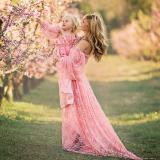 Sexy Maternity Dresses For Photo Shoot Lace Long Maternity Photography Props Pregnancy Dress Pregnant Women Maxi Gown Clothes