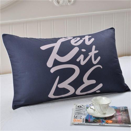 Polyester Pillowcase Tabby Letter
