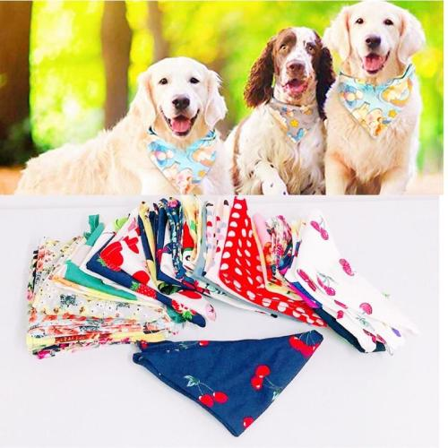 5PC/Lot 100%Cotton Cat Dog Bandanas For Small Large Dogs Scarves Collar Bibs Pet Dog Grooming Accessories