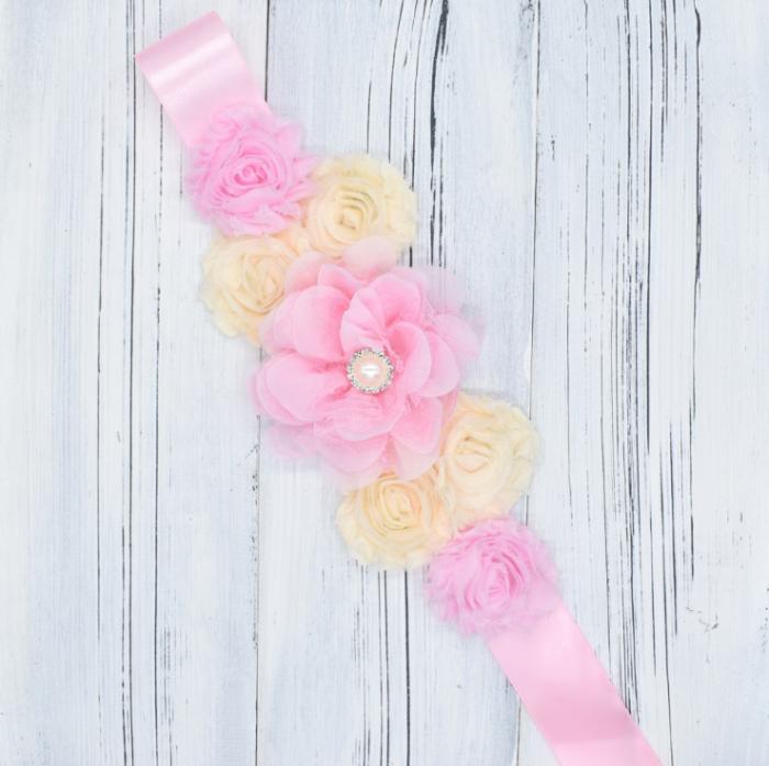Maternity Sash Photo Props Flower Belt